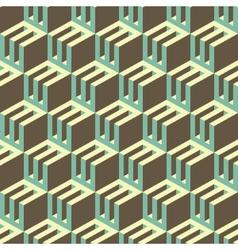 3d blocks structure background seamless geometric vector