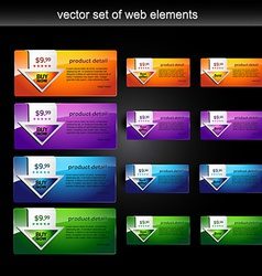 Web element set vector