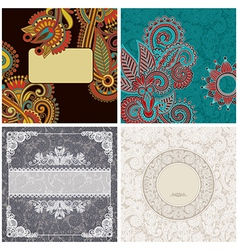 Collection of vintage ornamental template vector
