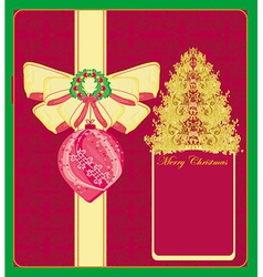Abstract card with christmas tree vector