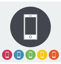 Smartphone single icon vector