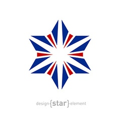 Star with united kingdom flag colors design vector