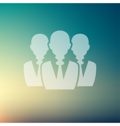 Three men in flat style icon vector