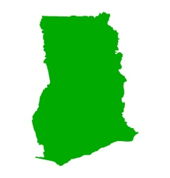 Map of ghana vector