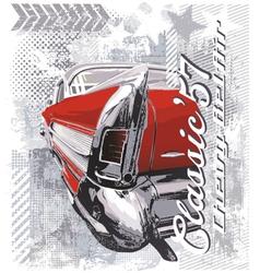 Vintage car 57 vector