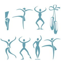 Dance poses vector