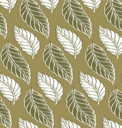 Cacao leaves background pattern vector