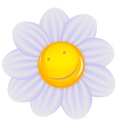 Daisy with a cheery smile isolated vector