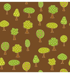 Fruit garden trees vector