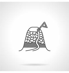 Black icon for mountain peak vector