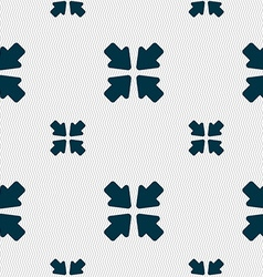 Turn to full screen icon sign seamless pattern vector