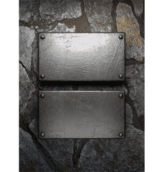 Metal and stone background vector