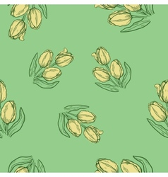 Seamless flowers pattern nature background concept vector