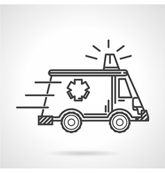 Black icon for ambulance car vector