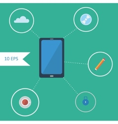 Flat design infographics with smartphone vector