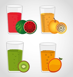 Juice fruit vector