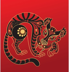 Chinese horoscope year of the tiger vector
