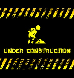 Under construction - grunge with icon vector