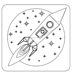 Missile in flight colorless coloring vector