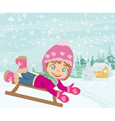 Fun in the winter day vector