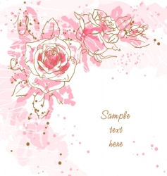 Romantic background with roses vector