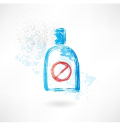 No drinks grunge icon vector