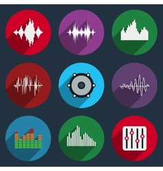 Music soundwave icons vector