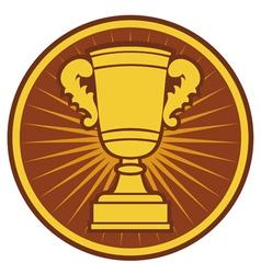Trophy cup symbol vector