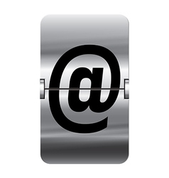 Alphabet silver flipboard letters at vector