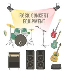 Rock concert equipment vector