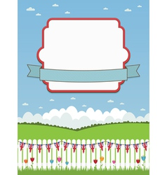 Uk picket fence and frame vector