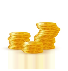 Pile of gold coins vector