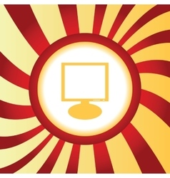 Monitor abstract icon vector