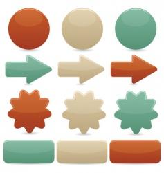 Web navigation vintage colors vector