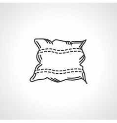 Black icon for pillow vector