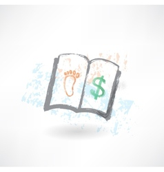 Business book grunge icon vector