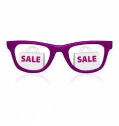Sale sunglasses icon vector