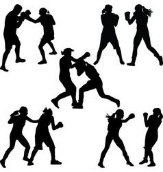 Boxer woman vector