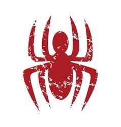 Red grunge spider logo vector