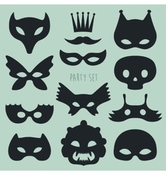 Set of carnival mask vector