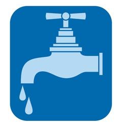Water tap-water faucet vector