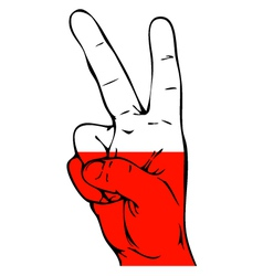 Peace sign of the polish flag vector