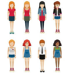 Faceless teenagers vector