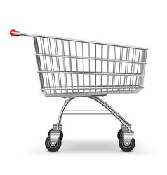 Supermarket trolley vector