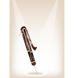 A classical contrabassoon on brown stage vector