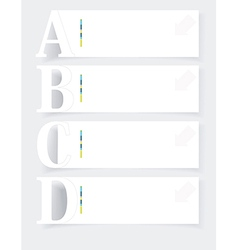 Abstract infographics option banners set vector