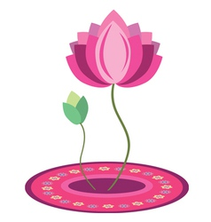 Lotus flower design vector