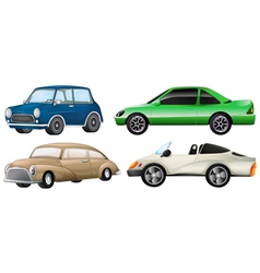 Four sets of luxury cars vector