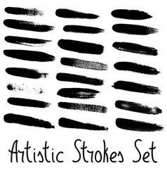 Artistic strokes set vector