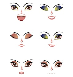 Facial expression of woman vector
